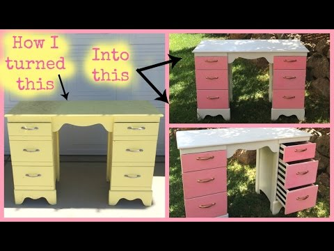 Ep.1 - Just a Girl and Her Paintbrush: Furniture Makeover Desk/Makeup Vanity