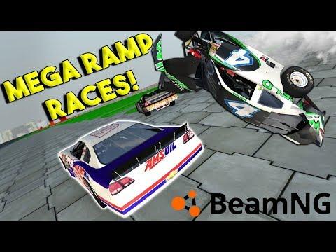 NASCAR MEGA RAMP RACE & CRASHES! -  BeamNG Drive Gameplay & Crashes