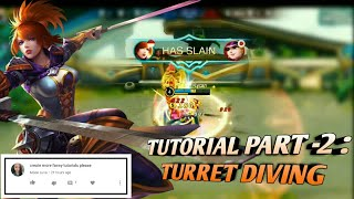 "*Tips & Tricks* ""How to dive turrets with fanny like a Pro"" 