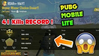 41 Kills Record Out of 60 Players ! Pubg Mobile Lite Gameplay 😱