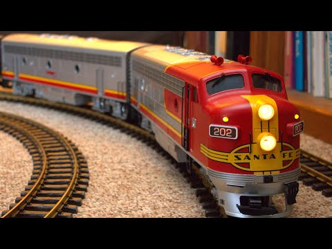 GoPro:  Santa Fe Super Chief model train tours my house