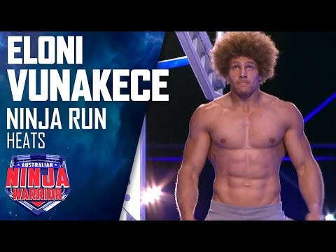 Ex-NRL star Eloni Vunakece takes on the course | Australian Ninja Warrior 2019