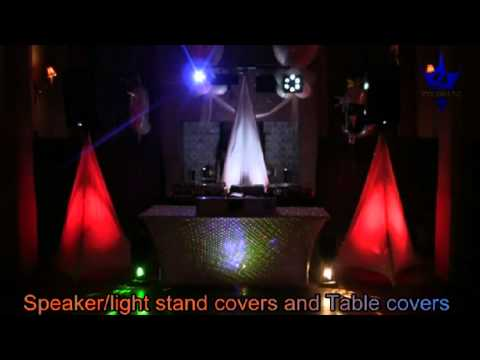 stand up lighting. dj wrapz speaker light stands and table covers with led uplighting cluster lasers youtube stand up lighting