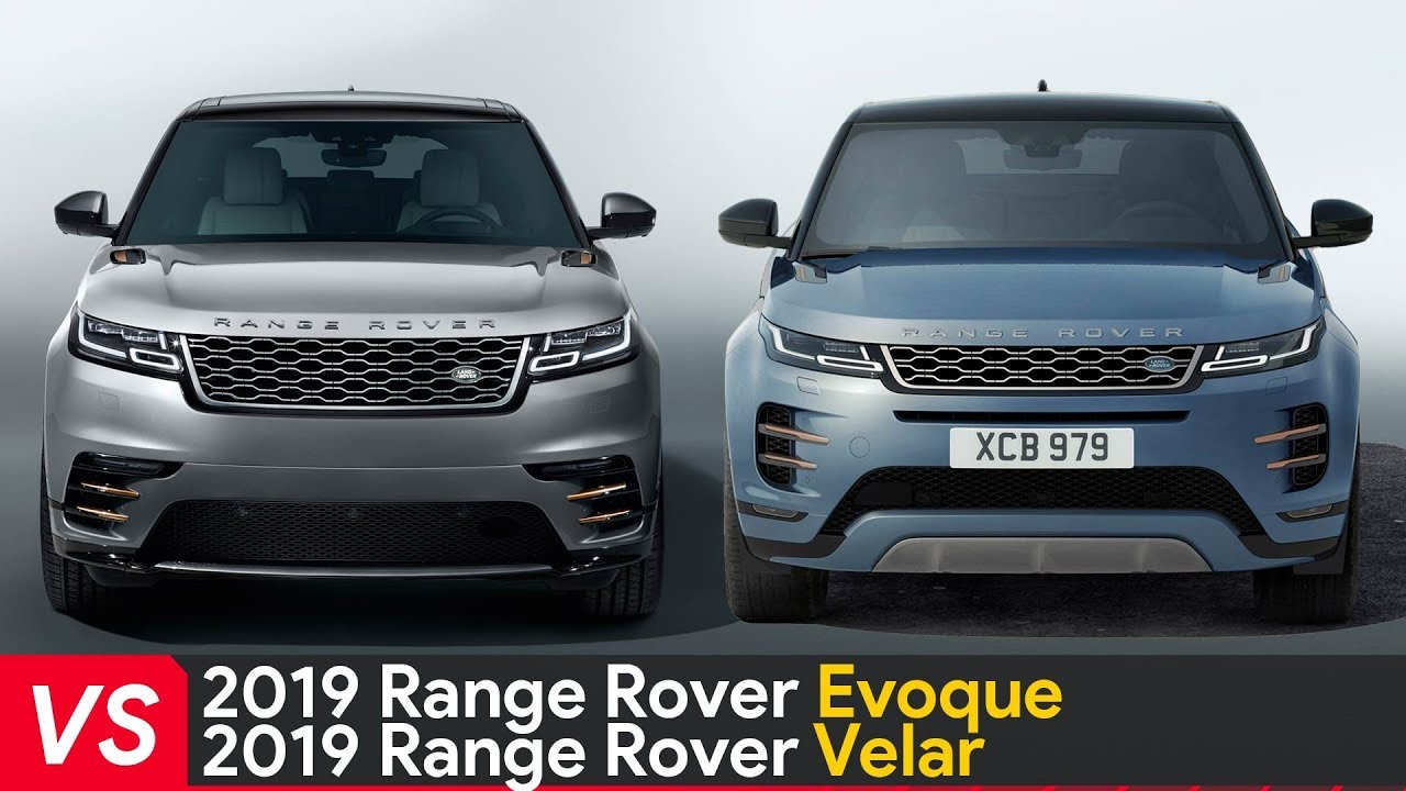 2020 Range Rover Evoque Vs Range Rover Velar Design Dimensions