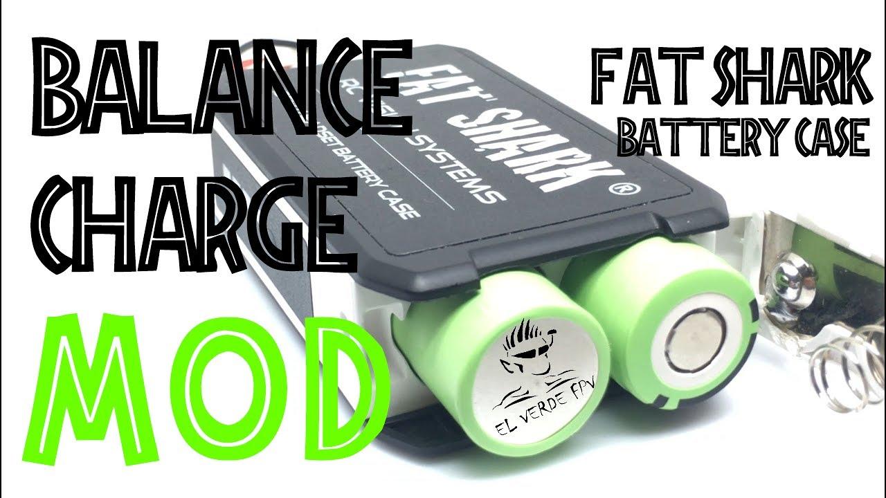 Fat Shark Battery Case 18650 Li Ion Balance Charge