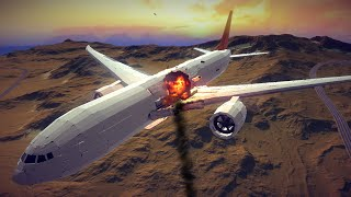 Large Airplanes Shot Down by Guided Missiles #12 Feat. New Boeing 777x | Besiege screenshot 2