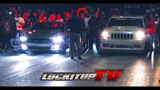 Mustang vs. Jeep SRT8 Video