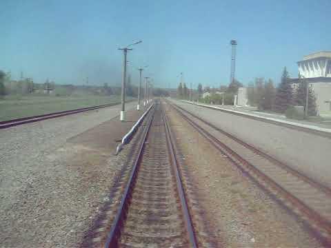 Из окна поезда:станция Куриловка