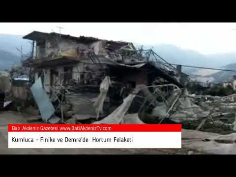 Kumluca, Finike ve Demre'de Hortum Felaketi 13-11-2017