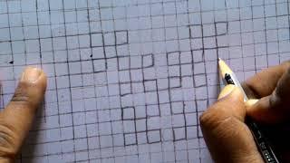 Sindhi tanka embroidery,kutchi work,gujrati stitch.lesson12 .draw pattern..