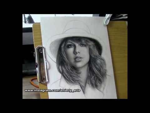Realism Portrait Drawing Of Taylor Swift