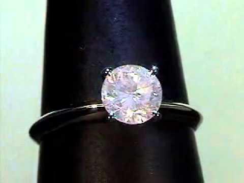 Золотое кольцо натуральными бриллиантами 1 карат - YouTube