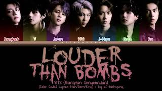 Download lagu BTS (방탄소년단) - Louder Than Bombs (Color Coded Lyrics Han/Rom/Eng)