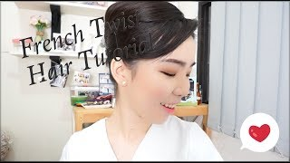 How To Make FRENCH TWIST Hair Tutorial / Debora Yovita
