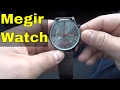 Megir Mesh Chrono Watch Review-Grey Dial With Mesh Band