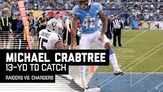 Michael Crabtree's Amazing Sideline TD! | Raiders vs. Chargers | NFL Week 15 Highlights