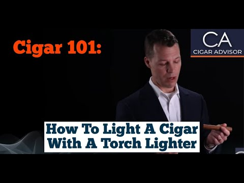 How to Light a Cigar with a Torch Lighter - Cigar 101