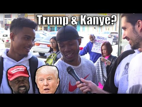 People On The Street Talk Kanye West & Donald Trump!