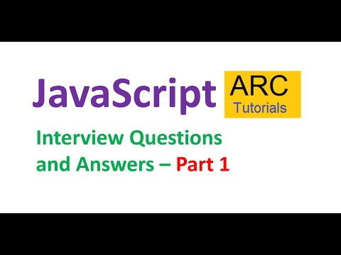 JavaScript Interview Questions And Answers - Part 1   ARC Tutorials