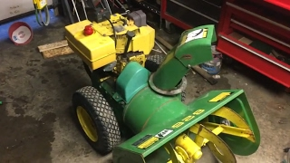 Belt replacement-John Deere 826 snowblower
