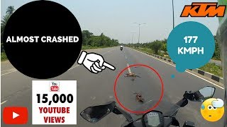 KTM RC 390 CLOSE CALL | NEAR MISS AT 177KMPH | MOTORCYCLE SAVE | DEAD ANIMAL | HIGHWAY 101