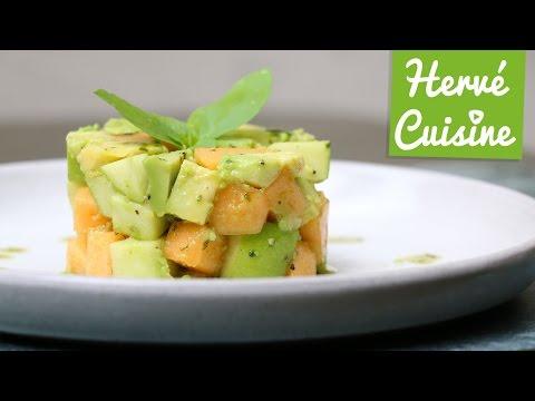 recette-du-tartare-avocat-melon-(végétarien)