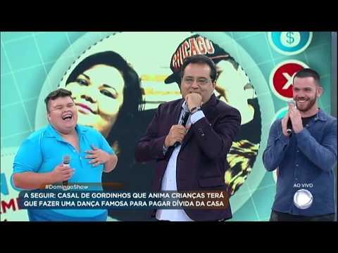 Geraldo Luís dança hit do Menudo com casal de gordinhos