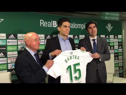 Presentación de Marc Bartra como Nuevo Jugador del Betis