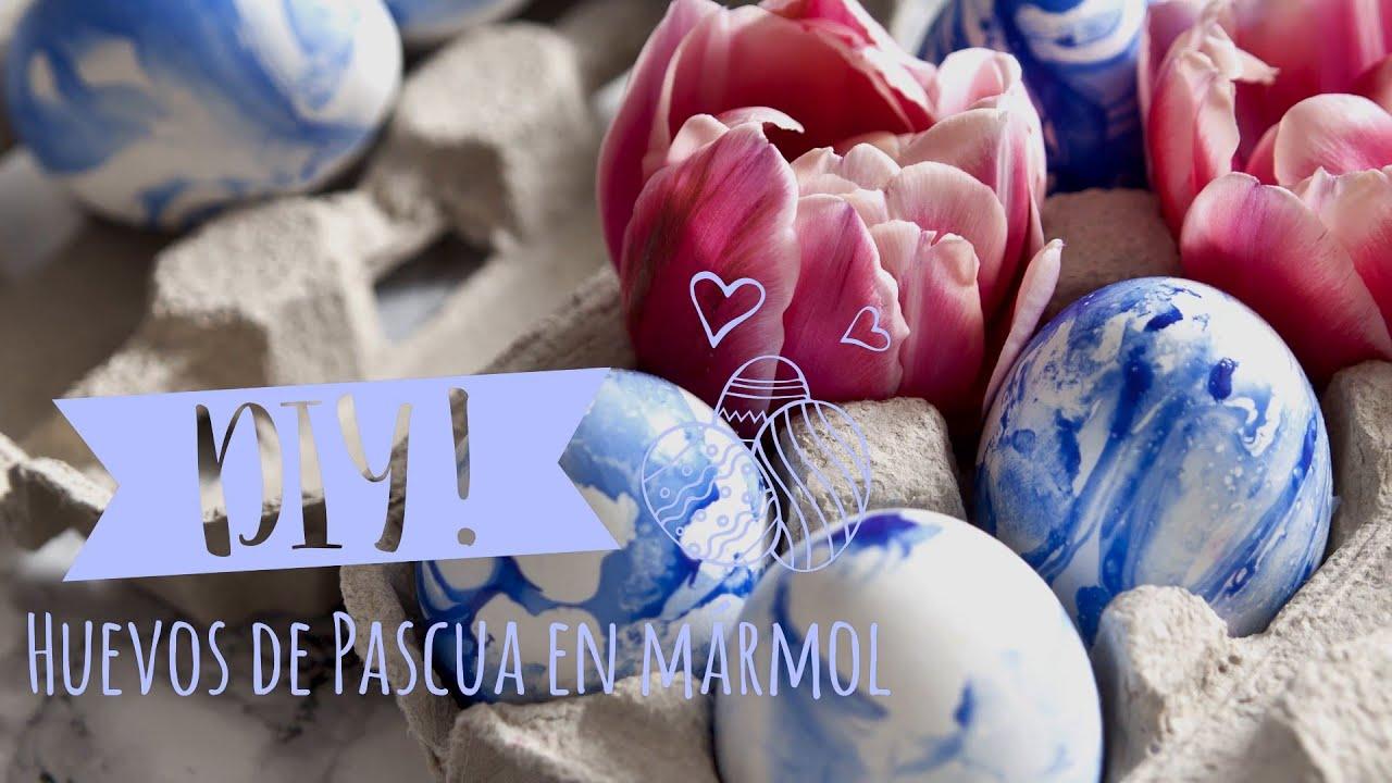 Ideas originales para pintar huevos de Pascua: efecto mármol | DIY ...