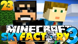 How BIG Can We MAKE This QUARRY? in Minecraft: Sky Factory 3!