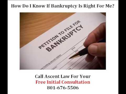 When is Bankruptcy a Good Idea? South Jordan Utah Attorney explains...