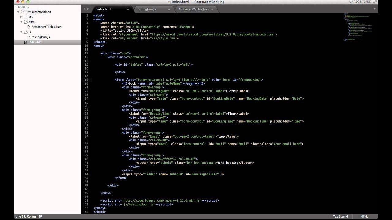 JSON via jQuery example