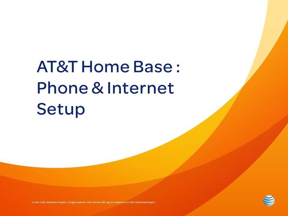 Att Home Base Phone And Internet Setup Youtube