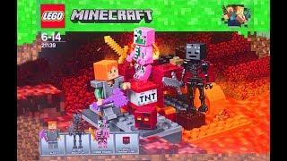 Лего Майнкрафт Игрушки Lego Minecraft Бой в Подземелье Обзор Конструктора Видео для Детей