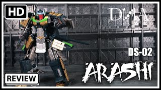 DNA Design DS-02 ARASHI Transformers Masterpiece Banzai-Tron
