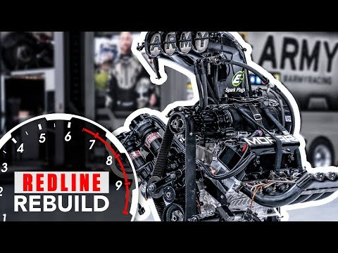 11,000-hp HEMI V-8 engine time-lapse: DSR's U.S. Army NHRA Top Fuel dragster | Redline Rebuild S2E3
