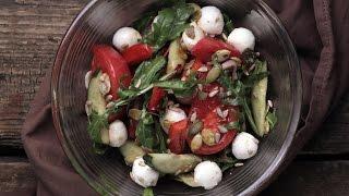 Легкий Овощной Салат с Моцареллой || FOOD TV Простой и Быстрый Рецепт