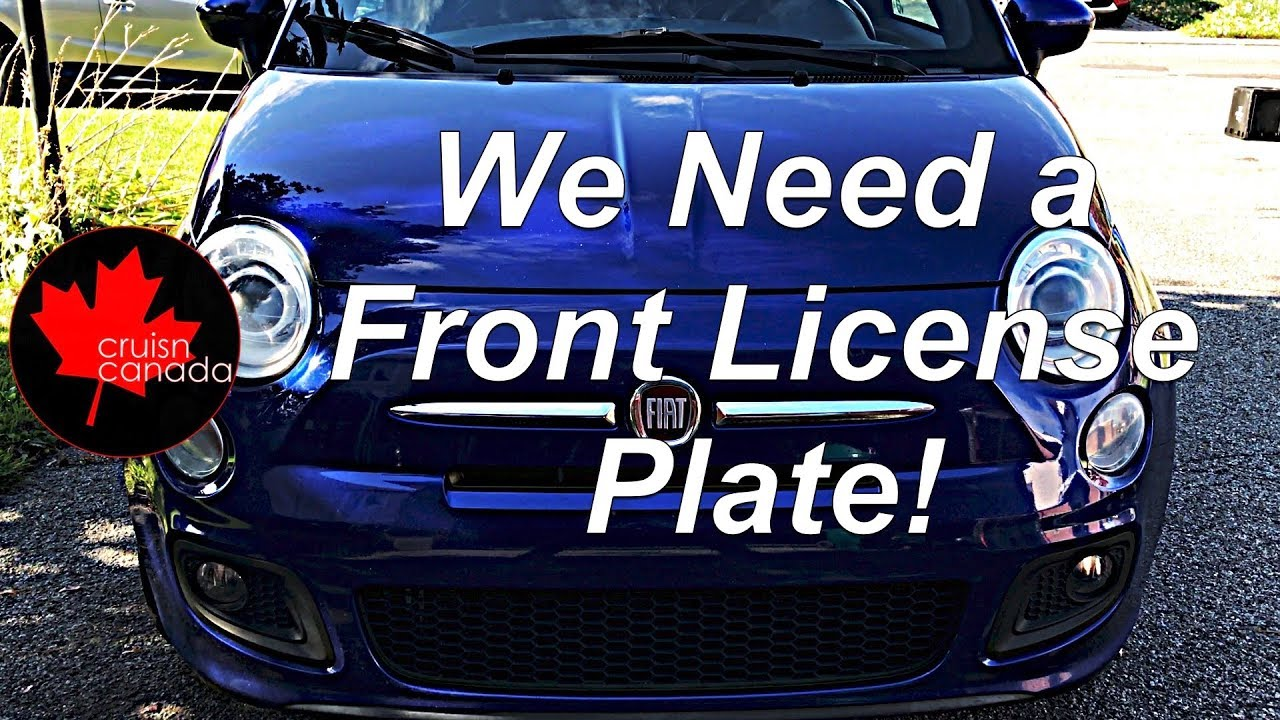 Installing Front License Plate on Fiat 500
