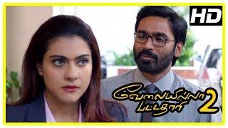 Dhanush New Movie 2017 | VIP 2 Scenes | Dhanush wins a project over Kajol | Amala Paul
