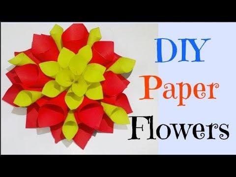 How To Make Beautiful Paper Dahlias || DIY Paper Dahlia Tutorial