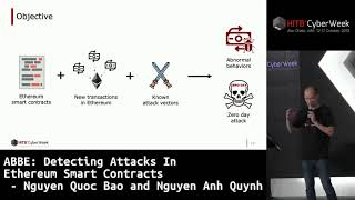 #HITBCyberWeek D2T1 - Detecting Attacks In Ethereum Smart Contracts - N. Quoc Bao and N. Anh Quynh