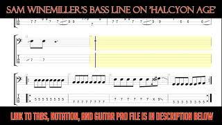Vansire - Halcyon Age (Bass Line w/tabs and standard notation)