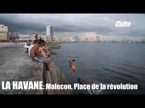 La HAVANE Cuba Malecon, Vedado, Place de la révolution, Cimetière Colomb
