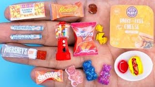 30 DIY Barbie MINIATURE IDEAS ~ MINIATURE of Food and Candy Crush !