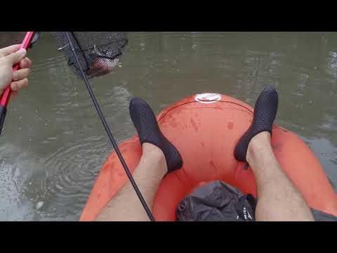 Ultralight Fishing Grunter Bream Almost Pops Inflatable Raft