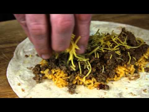 Ground Beef Burrito Recipe Using Rice & Cheese