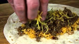 Ground Beef Burrito Recipe Using Rice & Cheese : Tacos & Burritos