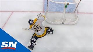 Pekka Rinne Scores Rare Goalie Goal For Predators