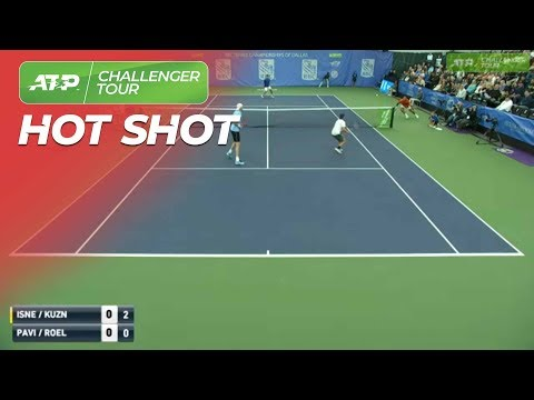 WATCH: Isner shows off doubles skills in Dallas