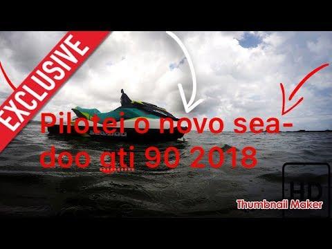 pilotando o jet ski sea doo gti 90 2018